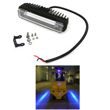 30W LED Blue Line Warning Lamp Safety Working Forklift Truck SUV Light 10-80V