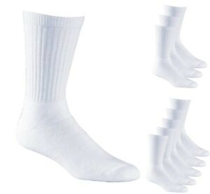 Aurellie Men Sports White Cotton Ribbed Socks UK sizes 5.5 - 11 Multipacks