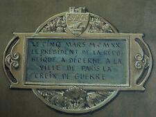 Peinture Aquarelle Médaille Croix de Guerre Ville de Paris Adolphe Giraldon