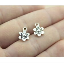20pcs Charm Silver Daisy Flower Pendant Connector Link Craft Kit Jewelry Making
