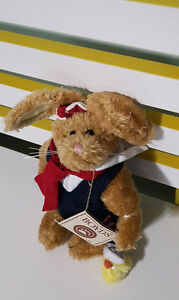 BOYDS TEDDY BEAR RABBIT TOY TAGS EMILY BABBIT THE RABBIT! SAILOR WITH DUCK!22CM
