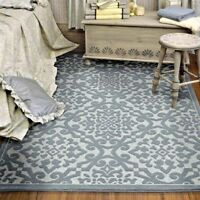 RUGS AREA RUGS OUTDOOR RUGS INDOOR OUTDOOR RUGS OUTDOOR CARPET BLUE PATIO RUGS ~
