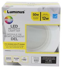 Luminus PPR590 4-Inch Retrofit 12W 650-Lumen Bright White 3000K Dimmable LED Lig