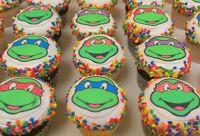 Tortenaufleger Teenage Mutant Ninja Turtles Muffin NEU Oblate Tortenbild Deko