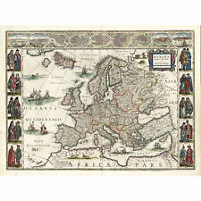 MAP ANTIQUE BLAEU THEATRE DU MONDE POMERANIA LARGE REPLICA POSTER PRINT PAM0678