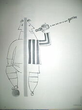 PUBLICITE DE PRESSE PERRIER FOOTBALL ILLUSTRATION DERANSART FRENCH AD 1963