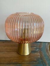 Nwt Rachel Zoe Pink Glass Modern Table Lamp