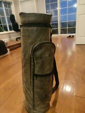 Vatra Brown Leather Golf Bong Bag 24 inch Golf Bag Smokers Traveler SOLDOUT RARE