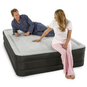 Queen Size Raised Air Mattress With Built-in Electric Air Pump, up to 500 lbs.