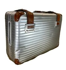"Super Rare Rimowa Assima Collaboration Side Handle 28"" Wheeled Suitcase Aluminum"
