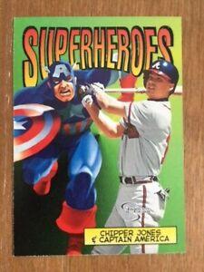 1998 Skybox Dugout Axcess Superheroes - Chipper Jones & Captain America #4SH