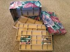Vintage Fabric JEWELRY BOX w/ 4 removable trays- Brand New! Shoebox size