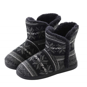 Ladies Winter Thermal Booties Thicken Fluffy Indoor Boots Slippers Soft & Cozy