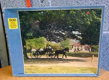 HORSE & CARRIAGE RIDE jigsaw puzzle Colonial America NWT buggy Americana OG