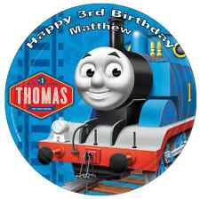 "Thomas The Tank Engine 7.5"" Personalised Cake Topper Edible Wafer Paper"