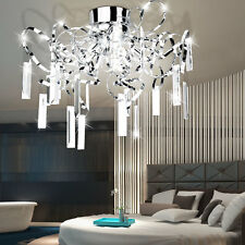 Luxus Decken Lampe Gäste Wohn Schlaf Zimmer Beleuchtung Glas Stäbe klar Leuchte