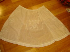 Victorian  Edwardian   Downton Abbey white batiste overskirt apron embroidered