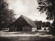1924 Vintage GERMANY Husum Ostenfeld Farm House Sheep Landscape Photo HIELSCHER