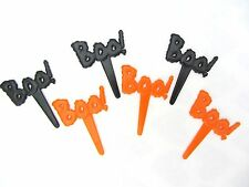 BOO HALLOWEEN PICS CAKE DECORATION TOPPERS ORANGE AND BLACK