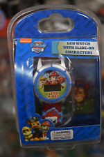 NEW Paw Patrol LCD Watch with Slide on Characters NIP Let's Roll Spin Master