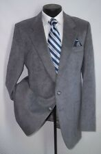 Valentino Uomo Gray 2 Buttons Patch Pockets Suede Leather Jacket, Coat 42 L