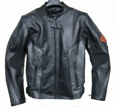 BLACK MOTO GUZZI RACER  MOTORBIKE  LEATHER JACKET CE APPROVED