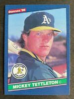 1986 Donruss Mickey Tettleton #345 - Rookie Card (RC) - Athletics - NM-MT