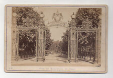 PHOTO ANCIENNE CARTE CABINET - Paris Parc Monceau Grille entrée Avant 1900