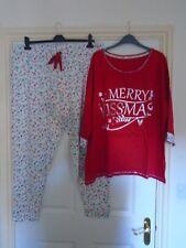 Ladies - New - Pretty  Merry Kissmas Pyjama Set - trousers + top - Size: 22/24