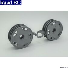 Tamiya 0448056 RC Front Wheels: Grey Dt-02 Off-Road