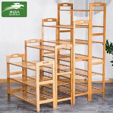 2/3/4/5 Tier Shoe Storage Rack Cabinet Shelf Wooden Stand Home Organizer Bamboo