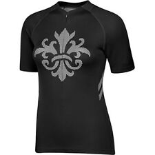 SheBeest Strada Short Sleeve Jersey - Women's Cycling Top - BLACK - Size M