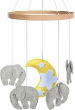 Cot Baby Mobile - Crib Toy Accessories For Boys + Girls (Baby Elephants)