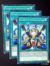 Set 3X CAMBIO DI INGRANAGGIAN Geargia Change SHVI-IT095 Comune Italiano YUGIOH