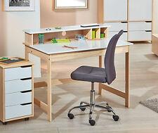 SCHREIBTISCH Massivholz / MDF, natur - weiß, aufklappbare Tischplatte NEU & OVP