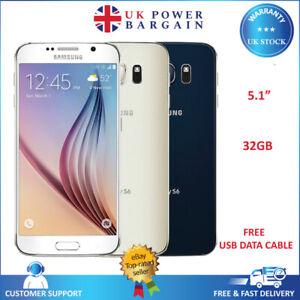 Samsung Galaxy S6 SM-G920 32GB 4G Black White Gold Unlocked Android Smartphone