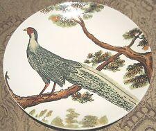 "4 Pottery Barn Pheasant Turkey Plates 9""  Bird Tree Holiday Microwave safe NEW"
