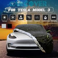 Car Cover Outdoor Waterproof Windproof Adjustable Durable For Tesla Model 3