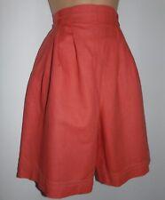 Laura Ashley Vintage Coral Linen Blend Shorts Culottes & T shirt - X-Small