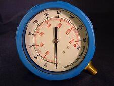 "Pressure Gauge 4"" Dia. 0 to 200 PSI 0 to 1400 kPa 1/4NPT Grainger NIB 4EFG6"