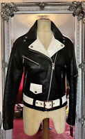 "Straight To Hell Leather Commando Motorcycle Jacket 34"" Punk / Rockabilly"