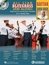 All Star Bluegrass Jam Along For Guitar David Grier Tab Book Cd NEW!