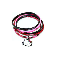 Hello Kitty 5 pcs Rubber Ring Bracelet with Hello Kitty Face Charm