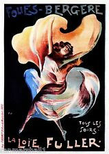 18x24 Folies-Bergere Fontaine 1880s French Circus Acrobat Poster