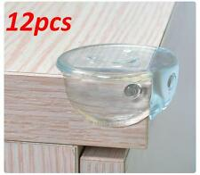 12Pcs CLEAR ROUND Baby Toddler Safety Table Corner Guard Cushions Protectors