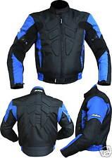 GIACCA MOTO GIUBBOTTO CORDURA  NERO-BLUE-3109