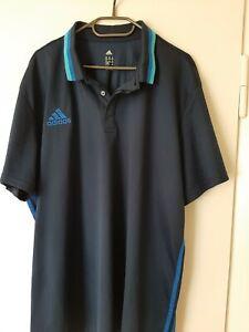 ADIDAS Poloshirt 3XL blau dunkelblau - super Zustand T-Shirt (4)