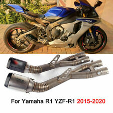 For Yamaha R1 YZF-R1 Motorcycle Exhaust System Mid Pipe 61mm Mufflers Slip On