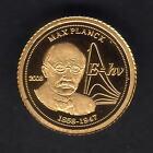 Togo. 2008 Gold 1500 Francs. Max Planck. 0.5gram .999 gold.. Proof