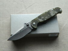 Couteau Real Steel H6 Blue Sheep Camo Lame Acier 14C28N Stone Manche G-10 RS7767